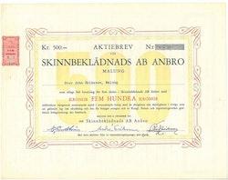 Skinnbeklädnads AB Anbro