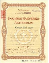 Insjöns Sågverks AB, 100 kr