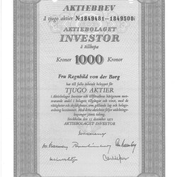 Investor, AB 1 000 kr