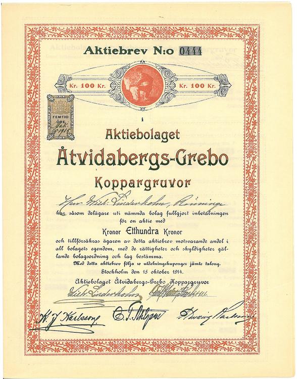Åtvidabergs-Grebo Koppargruvor, AB