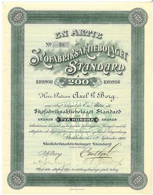 Skofabriks AB Standard