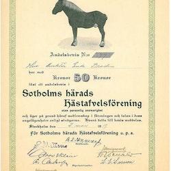 Sotholms Härads Hästafvelsförening