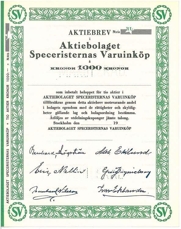 Speceristernas Varuinköp AB