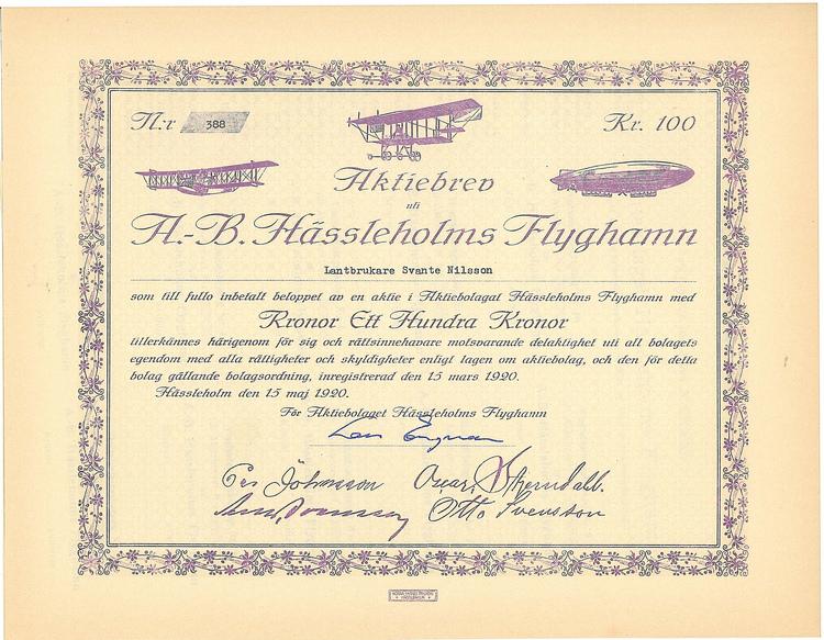 Hässleholms Flyghamn, AB