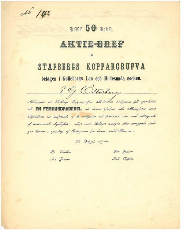 Stafbergs Koppargrufva AB