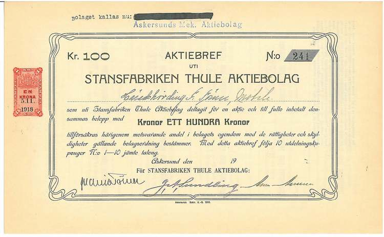 Stansfabriken Thule AB