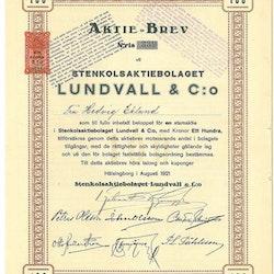 Stenkols AB Lundvall & Co