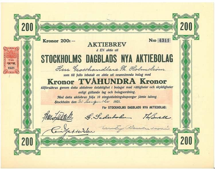 Stockholms Dagblads Nya AB