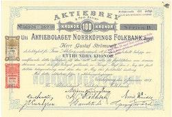 Norrköpings Folkbank, AB