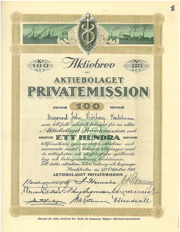 Privatemission, AB