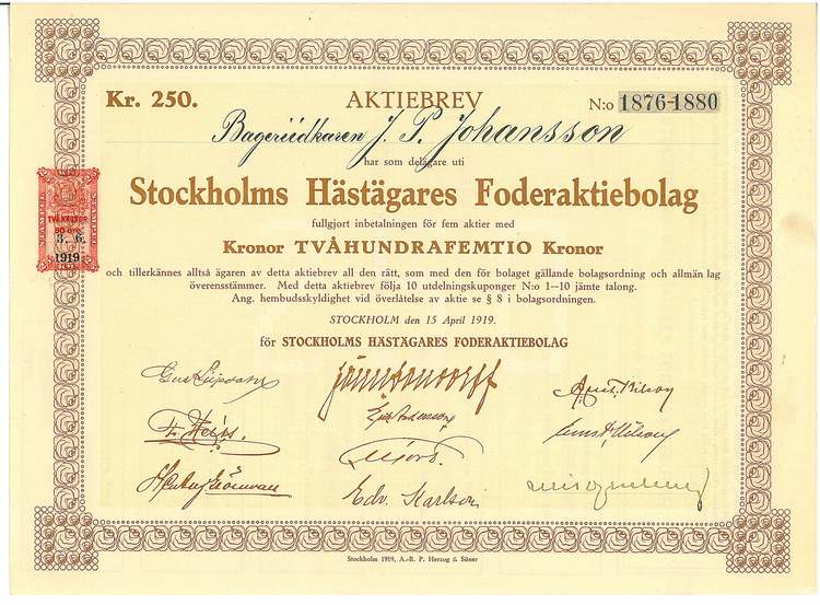 Stockholms Hästägares Foder AB