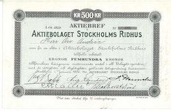 Stockholms Ridhus AB