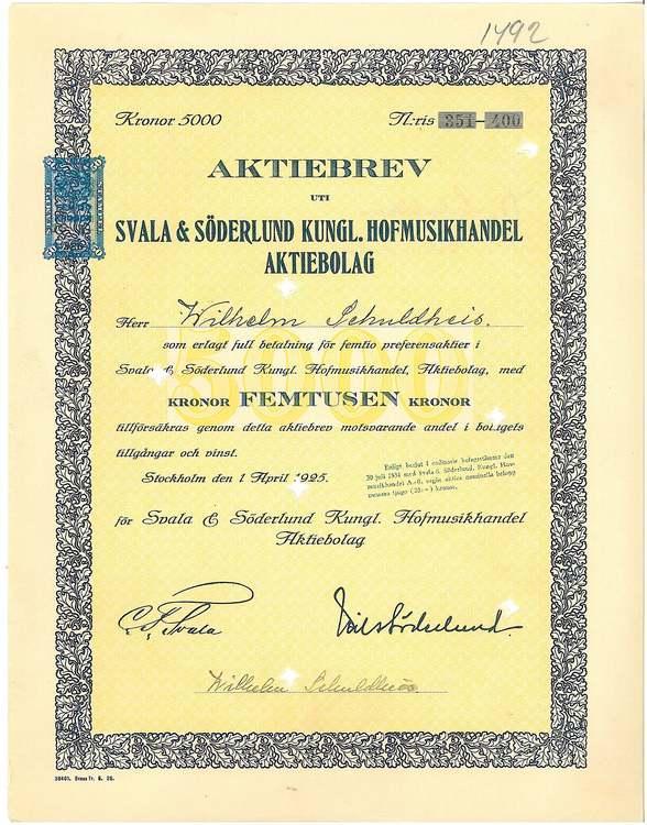 Svala Söderlund Kungl. Hofmusikhandel AB