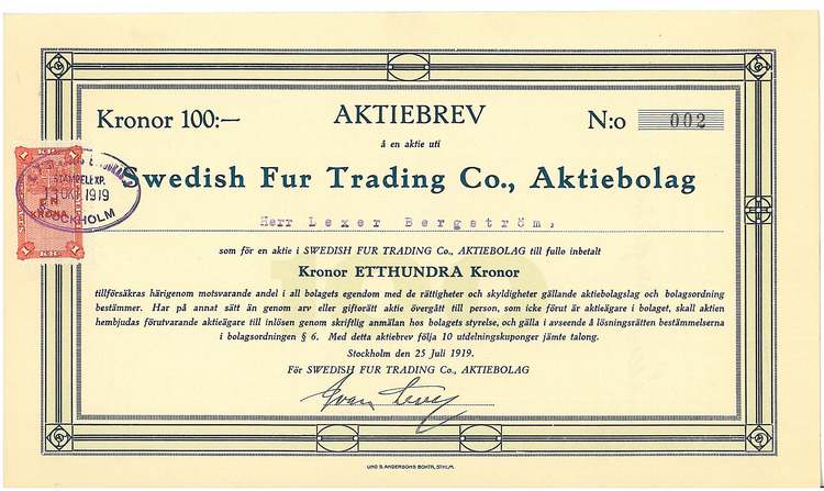 Swedish Fur Trading Co. AB