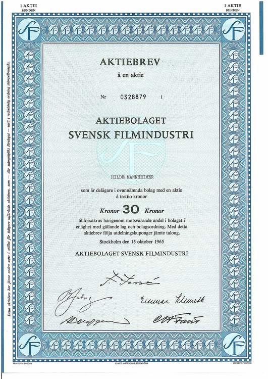 Svensk Filmindustri, AB SF