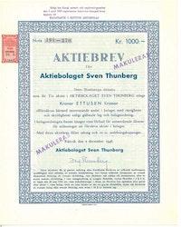 Sven Thunberg, AB