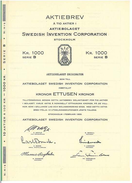 Swedish Invention Corporation AB