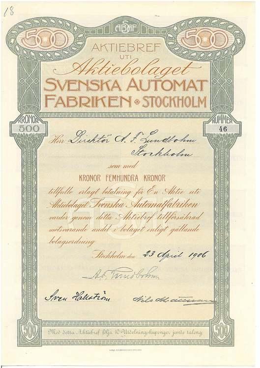 Svenska Automat Fabriken Stockholm AB