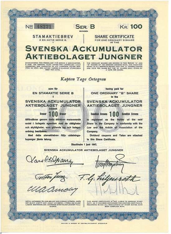 Svenska Ackumulator AB Jungners
