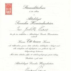 Svenska Hemindustrier, AB