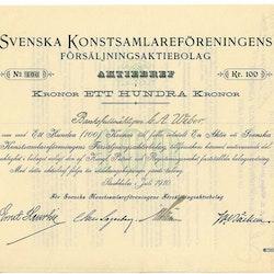 Svenska Konstsamlareförenings Försälj. AB