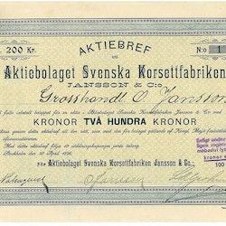 Svenska Korsettfabriken Jansson & Co, AB