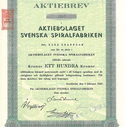Svenska Spiralfabriken, AB