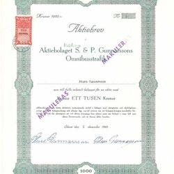 Gunnarssons Omnibusstrafik, AB S & P
