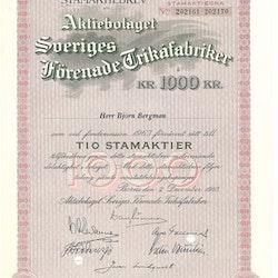 Sveriges Förenade Trikåfabriker, AB,