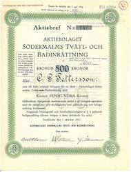 Södermalms Tvätt o Badinrättning, AB