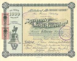 Sydsvenska Kredit AB, 1000 kr