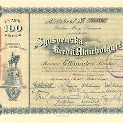 Sydsvenska Kredit AB, 100 kr