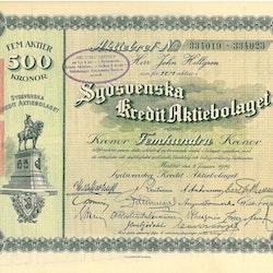 Sydsvenska Kredit AB, 1919