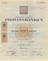 Provinsbanken, AB, 100 kr