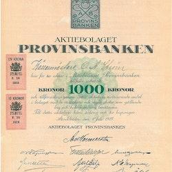 Provinsbanken, AB, 1000 kr