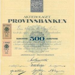 Provinsbanken, AB, 500 kr