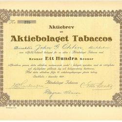 Tabaccos, AB
