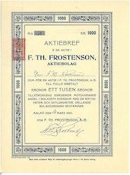 Th. Frostenson, AB F.