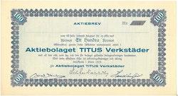 Titus Verkstäder, AB