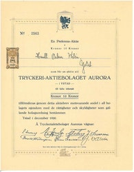 Tryckeri AB Aurora