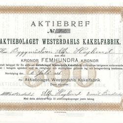 Westerdahls  Kakelfabrik, AB