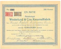 Westerlunds & C:os Karamellfabrik, AB