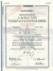 Wiklunds Maskin & Velocipedfabrik, AB A.