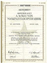Wiklunds Maskin & Velocipedfabrik, AB A