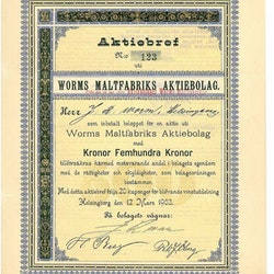 Worms Maltfabriken, AB