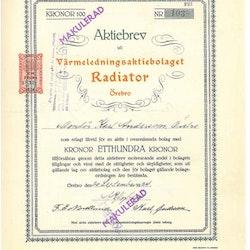 Värmelednings AB Radiator Örebro