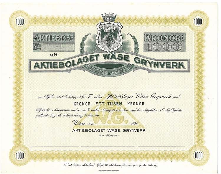 Wäse Grynverk, AB