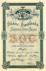 Skåne-Smålands Järnvägs AB, 1890
