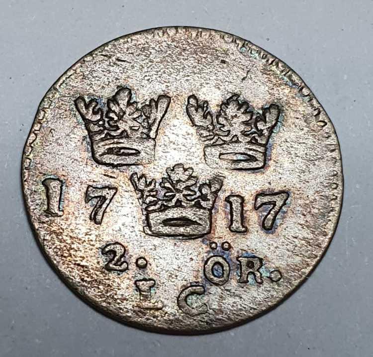 *Karl XII 2 Öre 1717