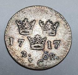 Karl XII 2 Öre 1717